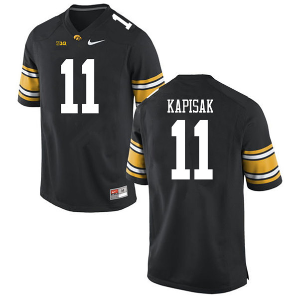 Men #11 Connor Kapisak Iowa Hawkeyes College Football Jerseys Sale-Black