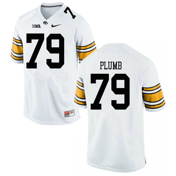 Men #79 Jack Plumb Iowa Hawkeyes College Football Jerseys Sale-White