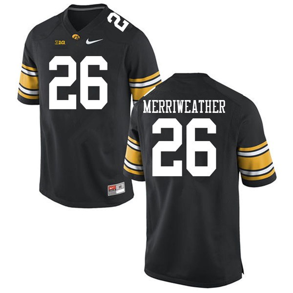 Men #26 Kaevon Merriweather Iowa Hawkeyes College Football Jerseys Sale-Black