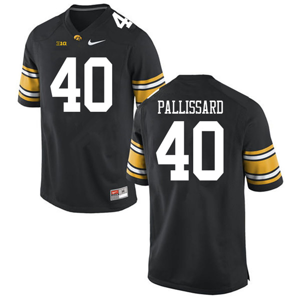 Men #40 Turner Pallissard Iowa Hawkeyes College Football Jerseys Sale-Black