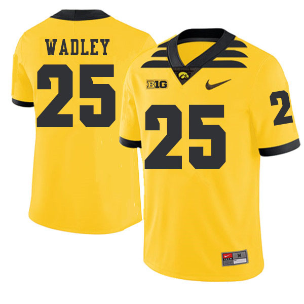 2019 Men #25 Akrum Wadley Iowa Hawkeyes College Football Alternate Jerseys Sale-Gold