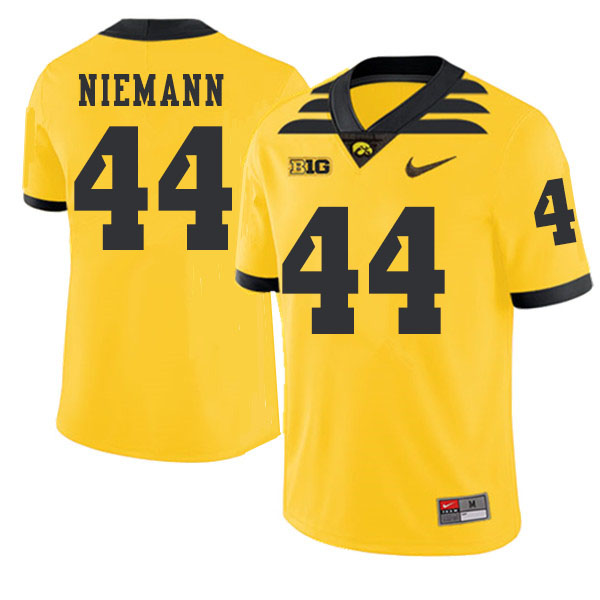 2019 Men #44 Ben Niemann Iowa Hawkeyes College Football Alternate Jerseys Sale-Gold