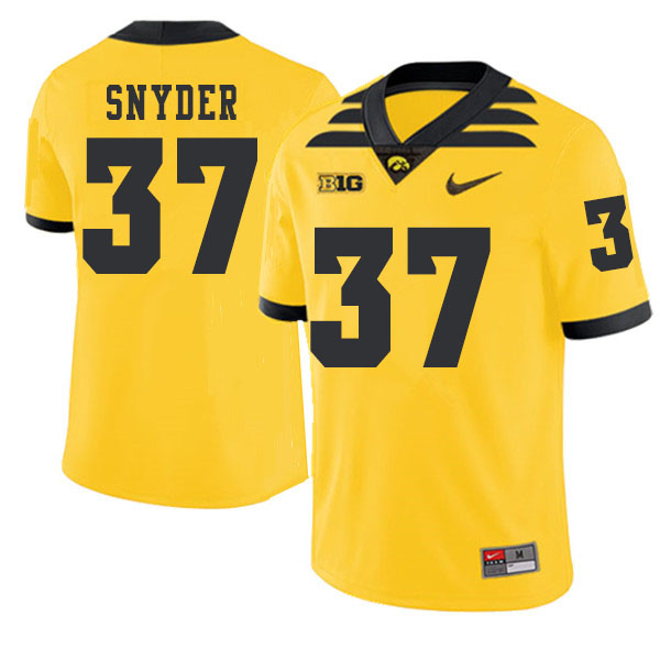 2019 Men #37 Brandon Snyder Iowa Hawkeyes College Football Alternate Jerseys Sale-Gold