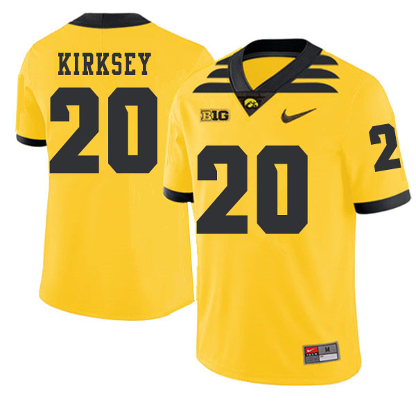 2019 Men #20 Christian Kirksey Iowa Hawkeyes College Football Alternate Jerseys Sale-Gold