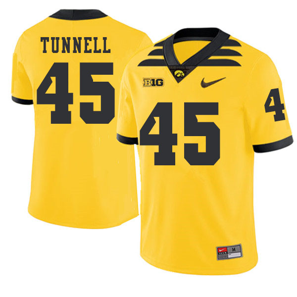 2019 Men #45 Emlen Tunnell Iowa Hawkeyes College Football Alternate Jerseys Sale-Gold