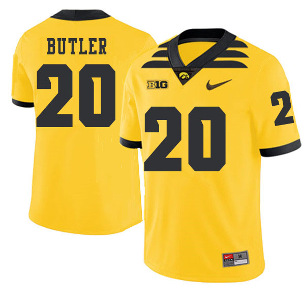 2019 Men #20 James Butler Iowa Hawkeyes College Football Alternate Jerseys Sale-Gold