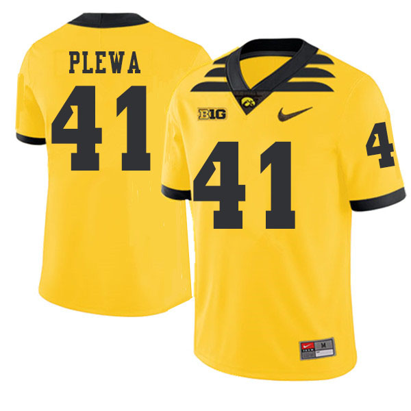 2019 Men #41 Johnny Plewa Iowa Hawkeyes College Football Alternate Jerseys Sale-Gold