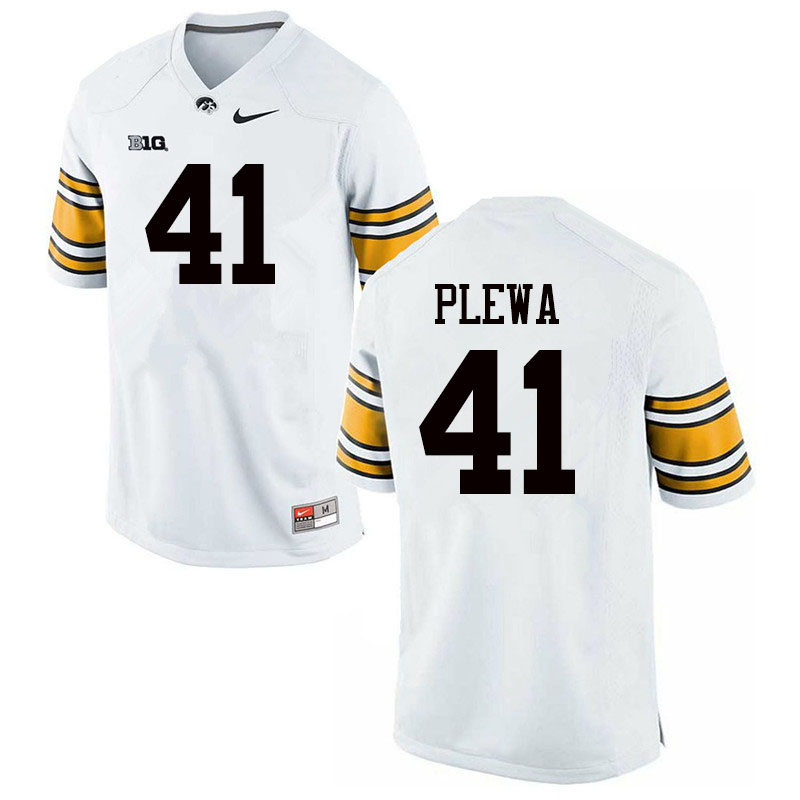 Men #41 Johnny Plewa Iowa Hawkeyes College Football Jerseys Sale-White