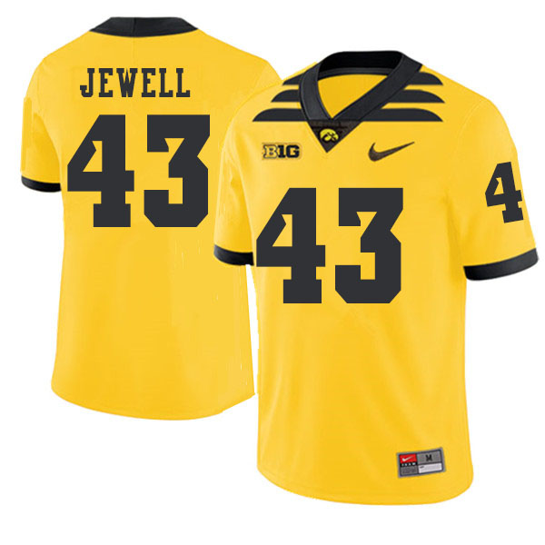 2019 Men #43 Josey Jewell Iowa Hawkeyes College Football Alternate Jerseys Sale-Gold