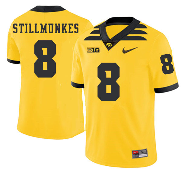 2019 Men #8 Kordell Stillmunkes Iowa Hawkeyes College Football Alternate Jerseys Sale-Gold
