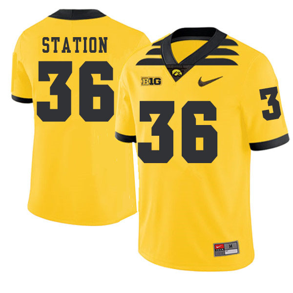 2019 Men #36 Larry Station Iowa Hawkeyes College Football Alternate Jerseys Sale-Gold