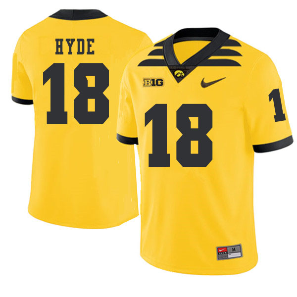 2019 Men #18 Micah Hyde Iowa Hawkeyes College Football Alternate Jerseys Sale-Gold