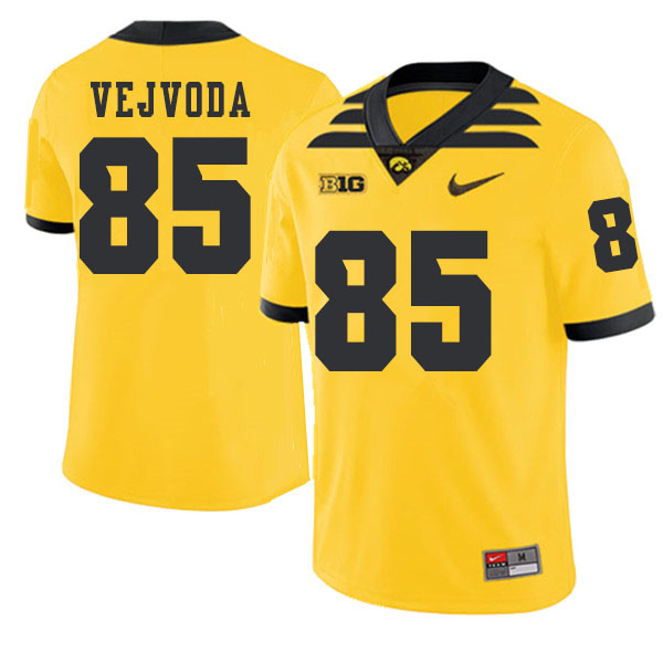 2019 Men #85 Nate Vejvoda Iowa Hawkeyes College Football Alternate Jerseys Sale-Gold