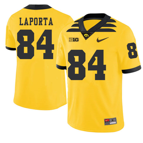 2019 Men #84 Sam LaPorta Iowa Hawkeyes College Football Alternate Jerseys Sale-Gold