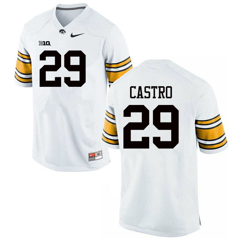 Men #29 Sebastian Castro Iowa Hawkeyes College Football Jerseys Sale-White