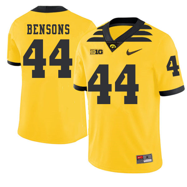 2019 Men #44 Seth Bensons Iowa Hawkeyes College Football Alternate Jerseys Sale-Gold