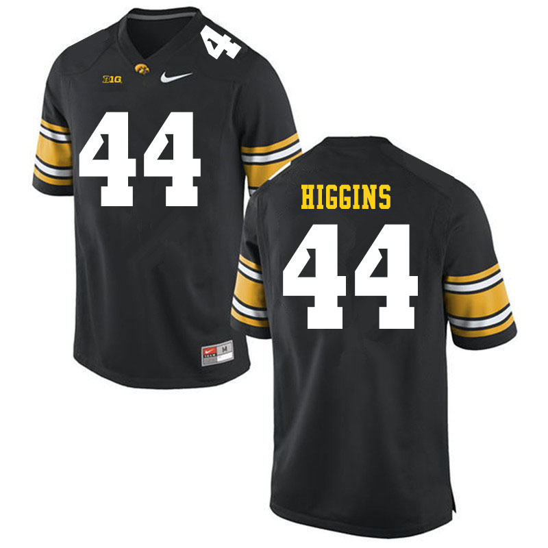 Men #44 Jay Higgins Iowa Hawkeyes College Football Jerseys Sale-Black