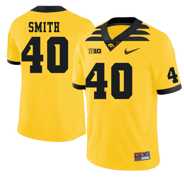 Men #40 Josef Smith Iowa Hawkeyes College Football Jerseys Sale-Gold