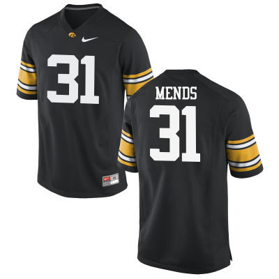 Men Iowa Hawkeyes #31 Aaron Mends College Football Jerseys-Black