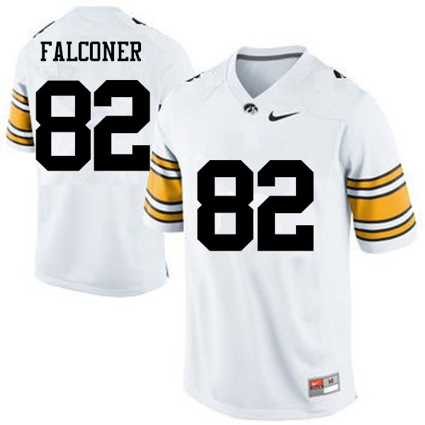 Men Iowa Hawkeyes #82 Adrian Falconer College Football Jerseys-White