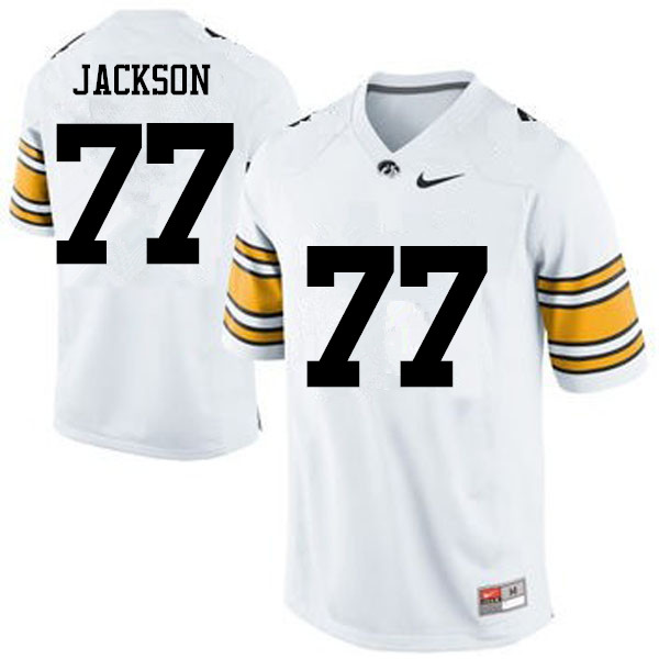 Men Iowa Hawkeyes #77 Alaric Jackson College Football Jerseys-White