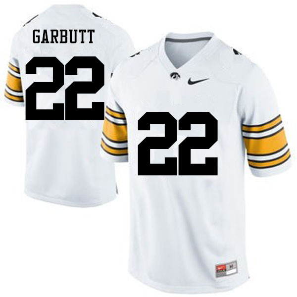 Men Iowa Hawkeyes #22 Angelo Garbutt College Football Jerseys-White