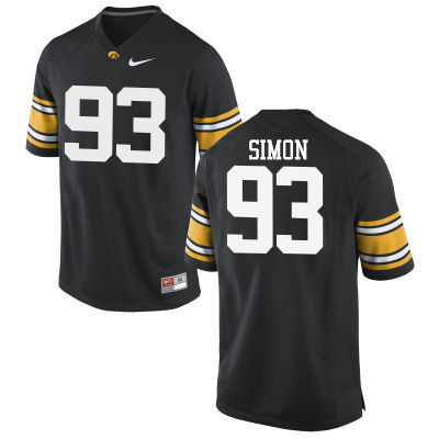 Men Iowa Hawkeyes #93 Brandon Simon College Football Jerseys-Black
