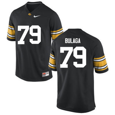 Men Iowa Hawkeyes #79 Bryan Bulaga College Football Jerseys-Black