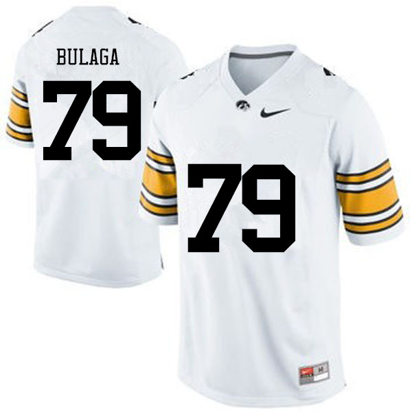 Men Iowa Hawkeyes #79 Bryan Bulaga College Football Jerseys-White
