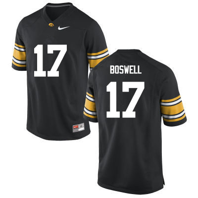 Men Iowa Hawkeyes #20 Cedric Boswell College Football Jerseys-Black