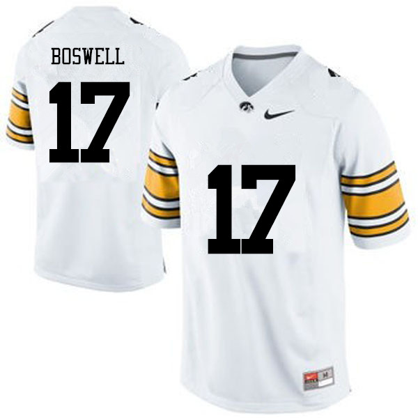 Men Iowa Hawkeyes #17 Cedric Boswell College Football Jerseys-White