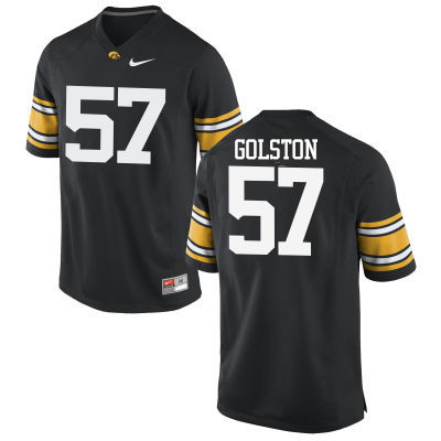 Men Iowa Hawkeyes #57 Chauncey Golston College Football Jerseys-Black
