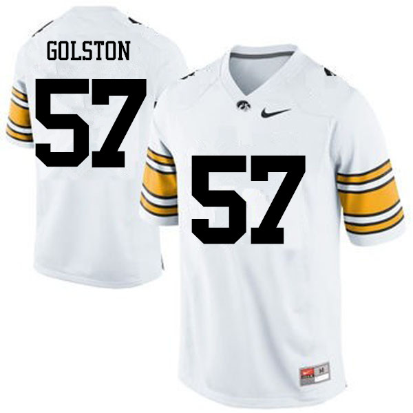 Men Iowa Hawkeyes #57 Chauncey Golston College Football Jerseys-White