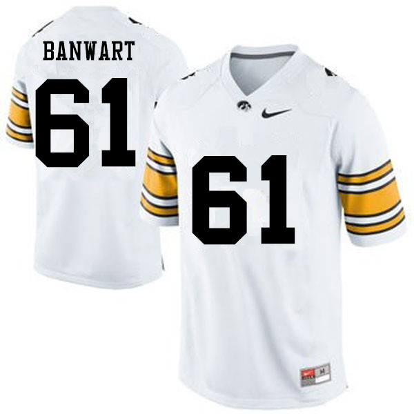 Men Iowa Hawkeyes #61 Cole Banwart College Football Jerseys-White