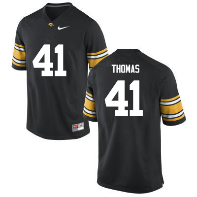 Men Iowa Hawkeyes #41 Drew Thomas College Football Jerseys-Black