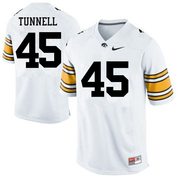 Men Iowa Hawkeyes #45 Emlen Tunnell College Football Jerseys-White