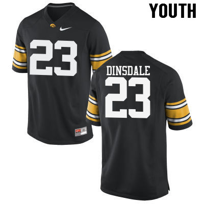Youth Iowa Hawkeyes #23 Gavin Dinsdale College Football Jerseys-Black