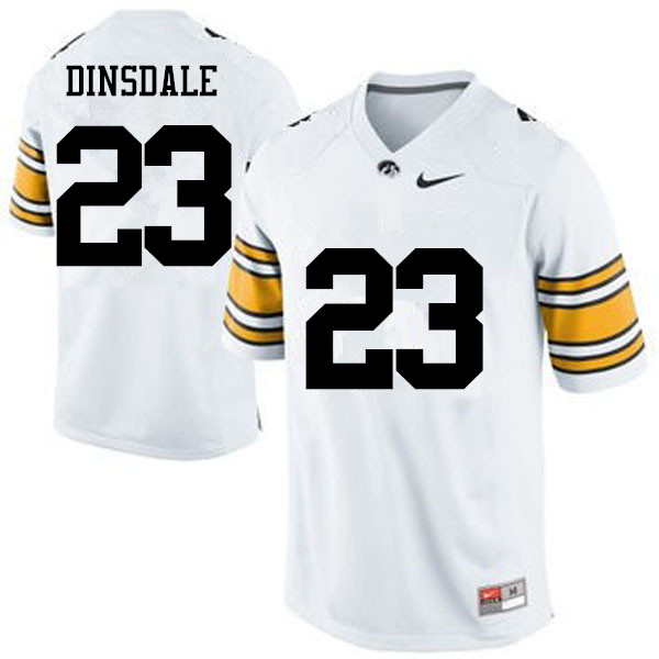 Men Iowa Hawkeyes #23 Gavin Dinsdale College Football Jerseys-White