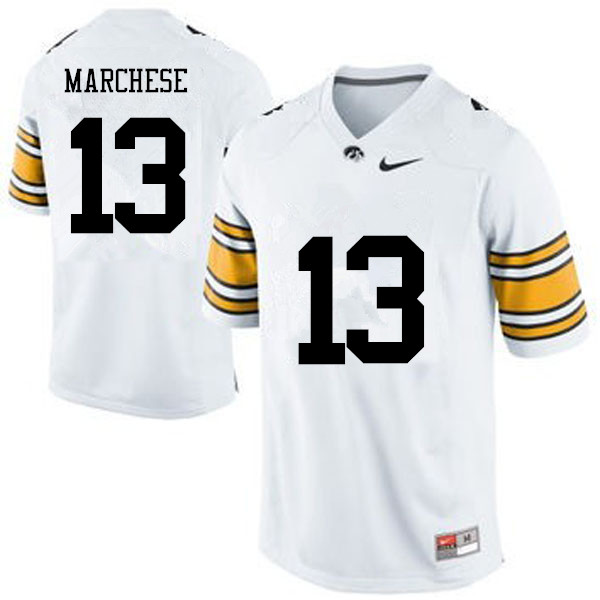 Men Iowa Hawkeyes #13 Henry Marchese College Football Jerseys-White