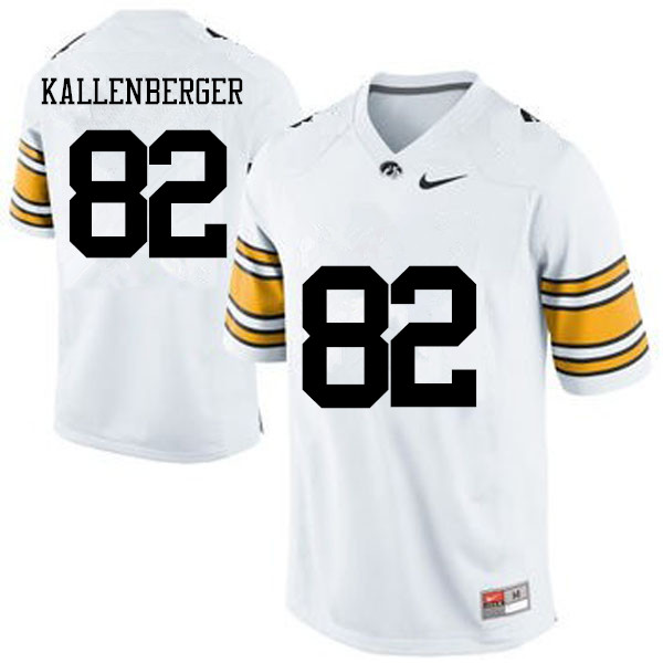 Men Iowa Hawkeyes #82 Jack Kallenberger College Football Jerseys-White