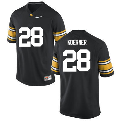 Men Iowa Hawkeyes #28 Jack Koerner College Football Jerseys-Black