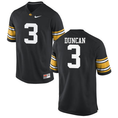 Men Iowa Hawkeyes #3 Keith Duncan College Football Jerseys-Black