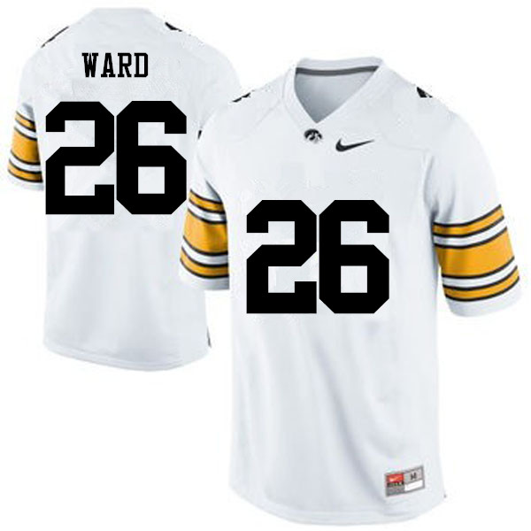 Men Iowa Hawkeyes #26 Kevin Ward College Football Jerseys-White