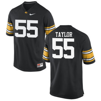 Men Iowa Hawkeyes #55 Kyle Taylor College Football Jerseys-Black
