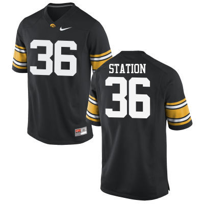 Men Iowa Hawkeyes #36 Larry Station College Football Jerseys-Black