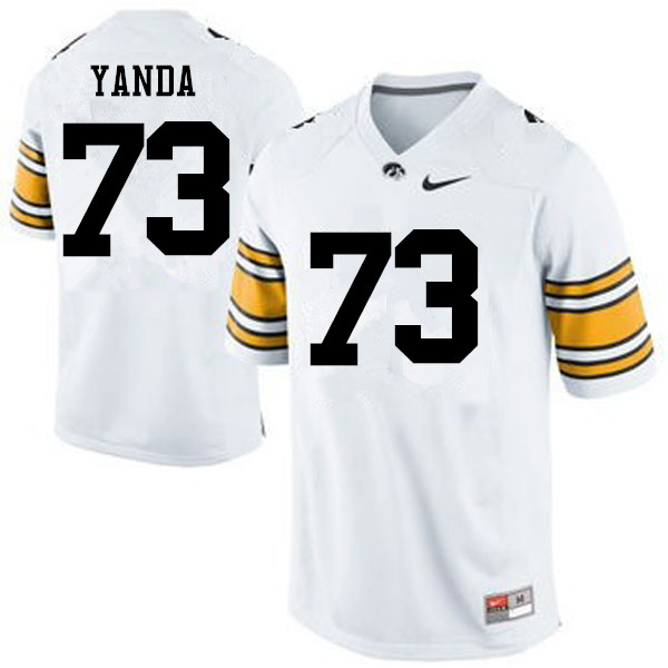 Men Iowa Hawkeyes #73 Marshal Yanda College Football Jerseys-White