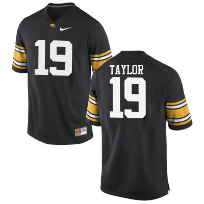 Men Iowa Hawkeyes #19 Miles Taylor College Football Jerseys-Black