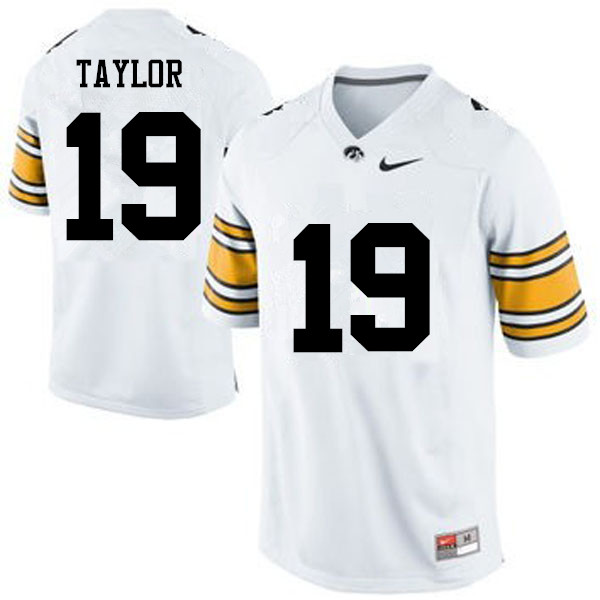 Men Iowa Hawkeyes #19 Miles Taylor College Football Jerseys-White