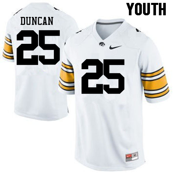 Youth Iowa Hawkeyes #25 Randy Duncan College Football Jerseys-White