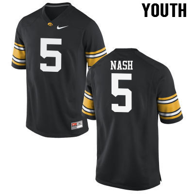 Youth Iowa Hawkeyes #5 Ronald Nash College Football Jerseys-Black